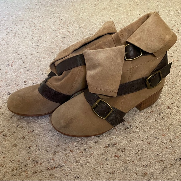 Modern Vintage Suede Boots
